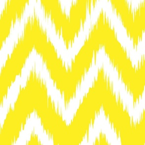 Yellow Chevron Ikat Large