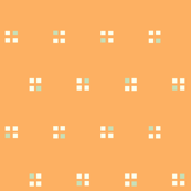 windows on the 1980s soft orange and mint