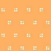 windows on the 1980s soft orange and mint