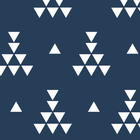 Midnight teepee fabric by >>mintpeony<< on Spoonflower - custom fabric