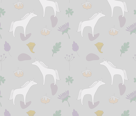 Unicorns fabric by calidurge on Spoonflower - custom fabric