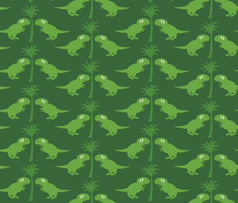 dinos fabric by darlingdearest on Spoonflower - custom fabric