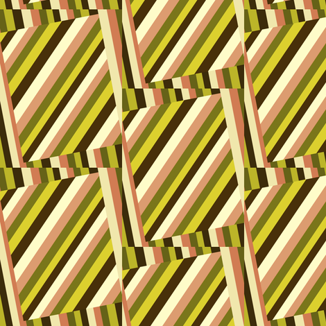 Dim Sum More Crazy Stripes fabric by whimzwhirled on Spoonflower - custom fabric