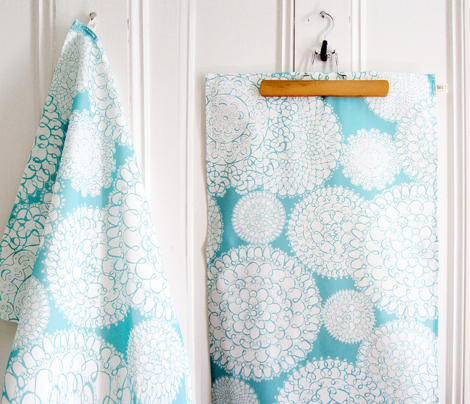 Delightful Doilies Kitchen Towel Aqua