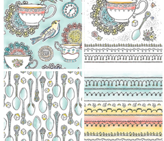 Tea Time Kitchen Towel Set Of 4 Designs