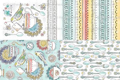 Tea Time Kitchen Towel Set Of 4 Designs