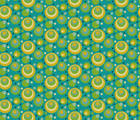 Teal_Polkas fabric by kelly_a on Spoonflower - custom fabric