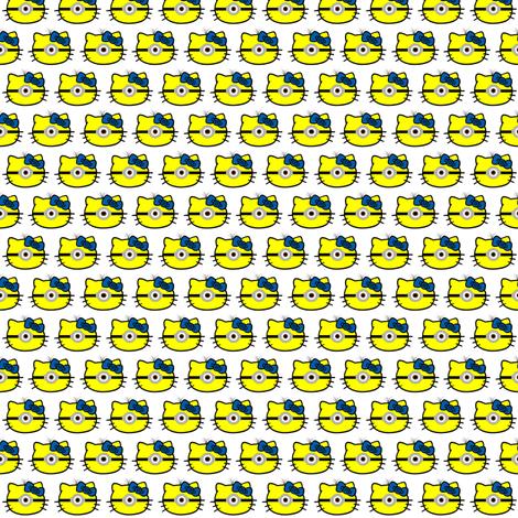 Hello Minion 1 fabric by sewdosomething on Spoonflower - custom fabric