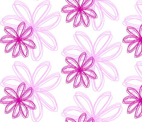 flower_burst_Pink fabric by stickelberry on Spoonflower - custom fabric