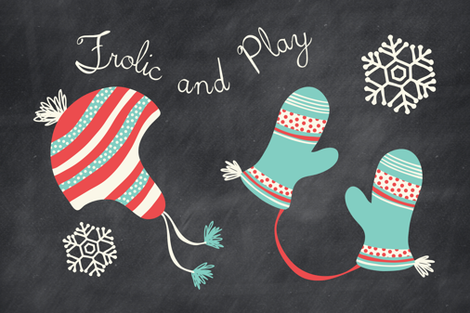 Frolic And Play Chalkboard Kitchen Towel fabric by heatherdutton on Spoonflower - custom fabric