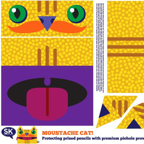 Moustache Cat! (Zipper Mouth Pencil Case)