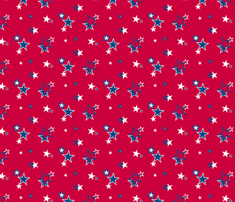 Americana - Stars on Red fabric by lavaguy on Spoonflower - custom fabric