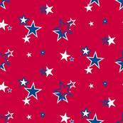 Americana - Stars on Red