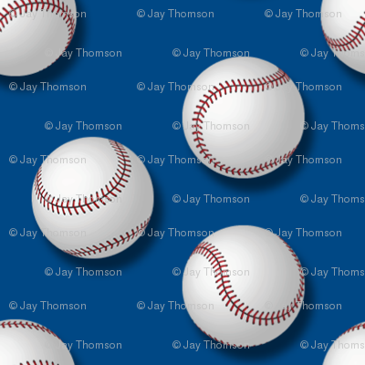 Americana: Baseballs on Blue