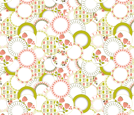 Piles of Plates fabric by bojudesigns on Spoonflower - custom fabric