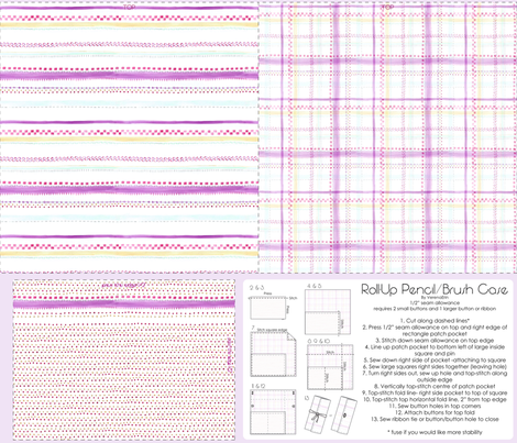 Roll-up Pencil/Brush Case fabric by verenaerin on Spoonflower - custom fabric