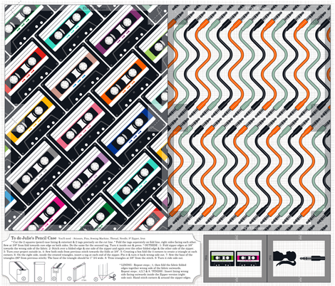 Julie's Pencil Case fabric by juliesfabrics on Spoonflower - custom fabric