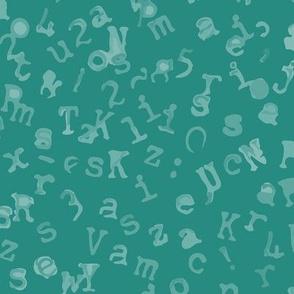 Teal Tide Letters