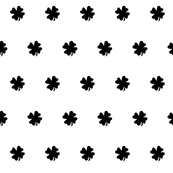 Four Leaf Clover Black and White
