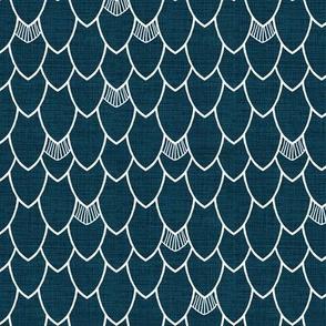 Mermaid Scales in Dark Denim