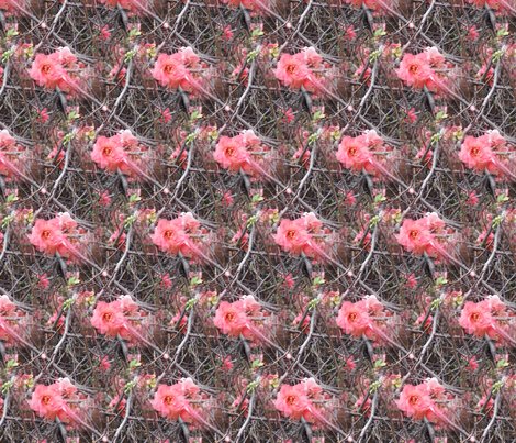 Pink flower fabric by upcyclepatch on Spoonflower - custom fabric