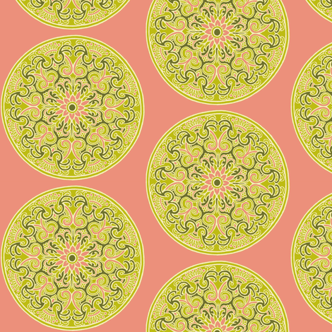 Dim Sum Flower Dots fabric by whimzwhirled on Spoonflower - custom fabric
