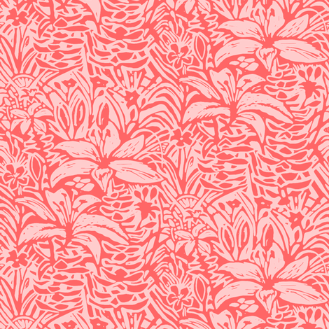 Havana Lilies in Coral