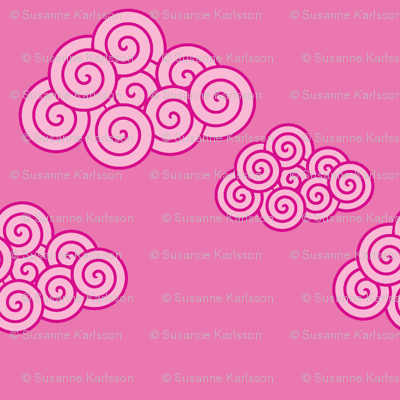 swirly cerise clouds