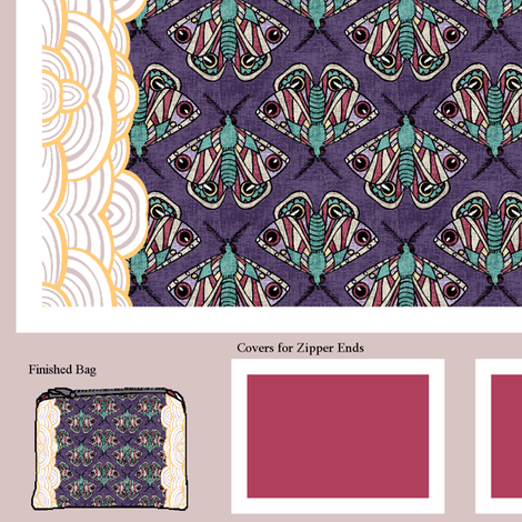 Moths to Open Flames fabric by pond_ripple on Spoonflower - custom fabric