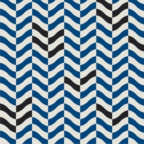 Wavy Chevron-Navy