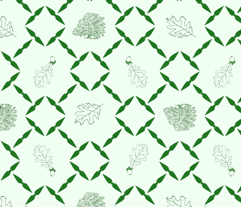 Green_shaded_Oak_block_for_fabric_1 fabric by joofalltrades on Spoonflower - custom fabric