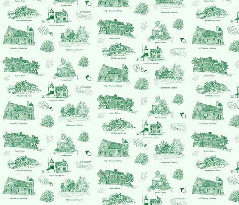 GreenStratfordToile fabric by joofalltrades on Spoonflower - custom fabric
