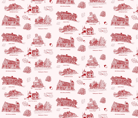 RedStratfordToile fabric by joofalltrades on Spoonflower - custom fabric