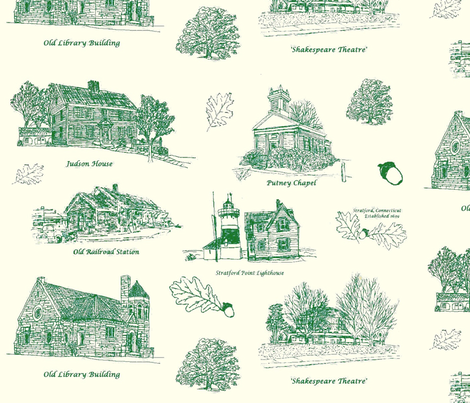 GreenCreamStratfordToile_larger fabric by joofalltrades on Spoonflower - custom fabric