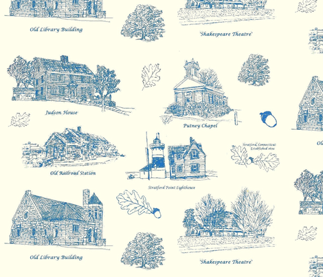 BlueCreamStratfordToile_Larger fabric by joofalltrades on Spoonflower - custom fabric