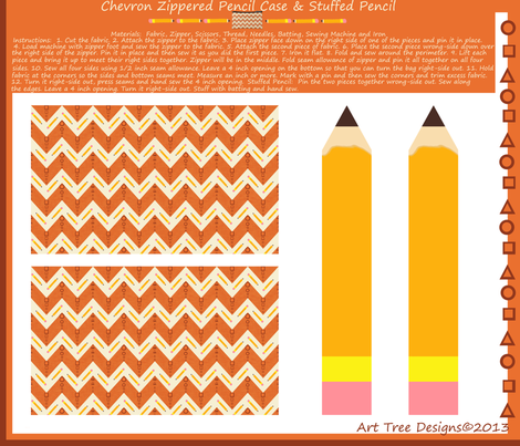 Chevron Pencils   fabric by arttreedesigns on Spoonflower - custom fabric