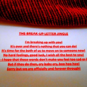 The Breakup Letter Jingle
