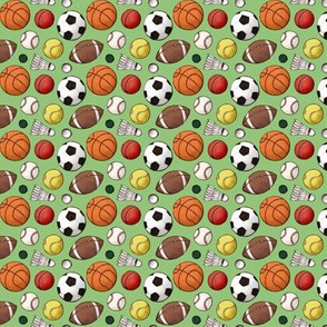 Ball Games Green Background