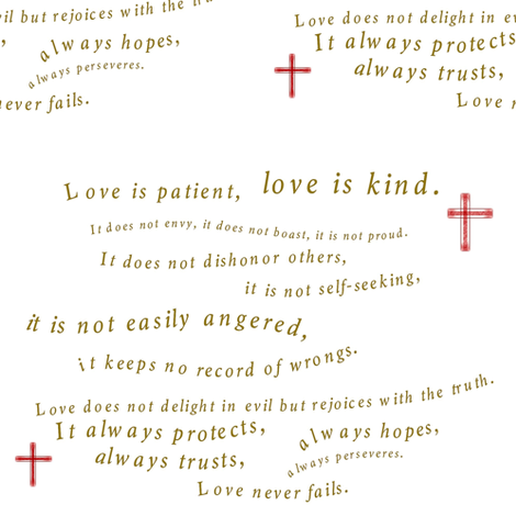 Love Never Fails fabric by carolj on Spoonflower - custom fabric
