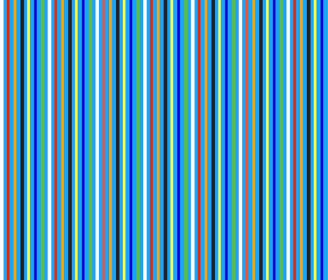 Blue Clown Stripe fabric by almost_vintage on Spoonflower - custom fabric