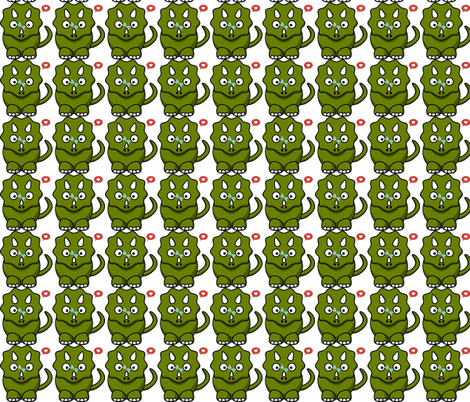 dinosaur love fabric by suzisu29 on Spoonflower - custom fabric