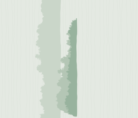 Shores layered, green fabric by linkolisa on Spoonflower - custom fabric