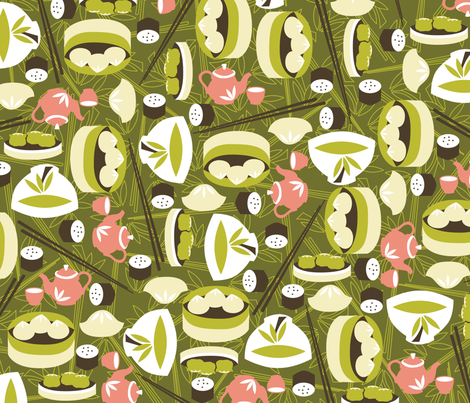 Dim Sum fabric by oliveandruby on Spoonflower - custom fabric