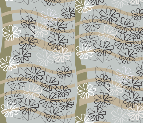 SOOBLOO_flower_43-g-01 fabric by soobloo on Spoonflower - custom fabric