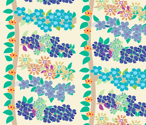 SOOBLOO_FLOWER_40f-01 fabric by soobloo on Spoonflower - custom fabric