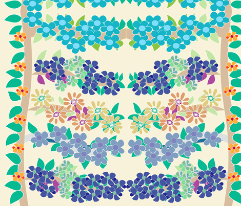 SOOBLOO_FLOWER_40_F_Two-01 fabric by soobloo on Spoonflower - custom fabric