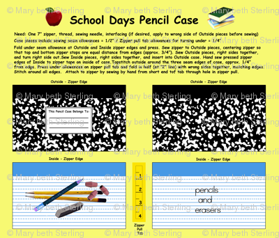 School Days Pencil Case