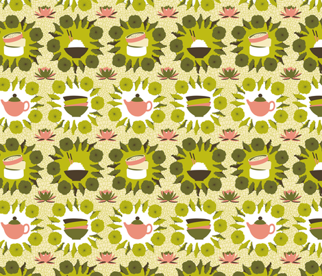 Yum Cha fabric by cerigwen on Spoonflower - custom fabric