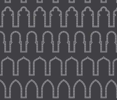 Arches-Charcoal fabric by redrobincreations on Spoonflower - custom fabric