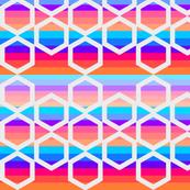 Sunset lattice in white